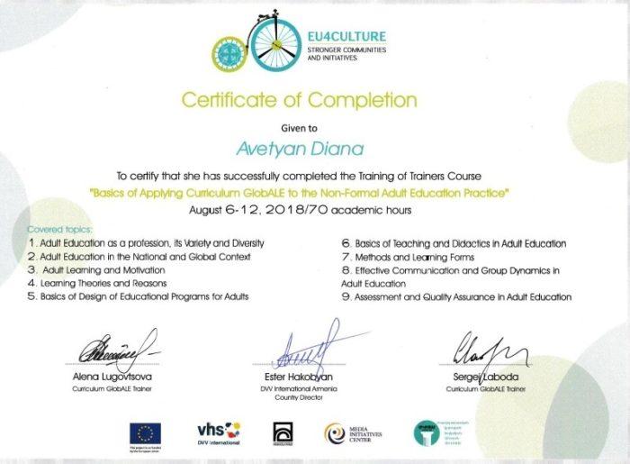 DVV TOT certificate_adult education