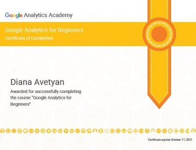 Google Analytics for beginners_exp Oct 2021
