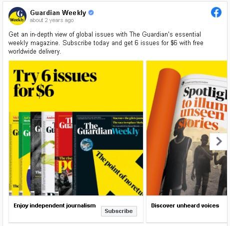Guardian weekly ad