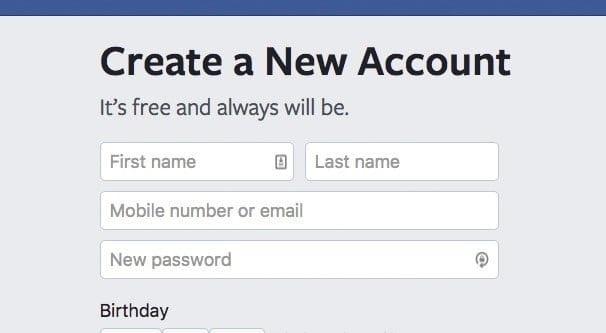 Create new ads account