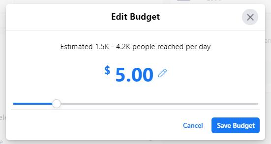 edit budget