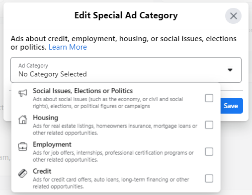 special ad category