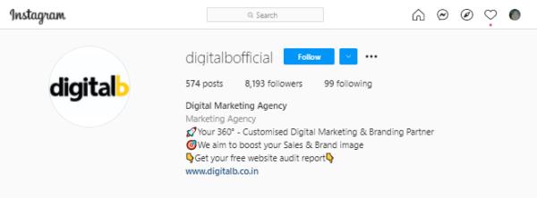 Instagram marketing - bio